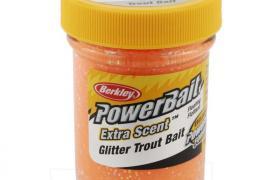 Pâte à truite berkley orange fluo pailletée 50g