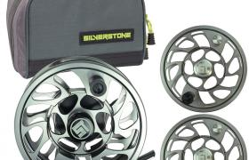 Pack moulinet silverstone r-stream black 79 + 2 bobines + trousse
