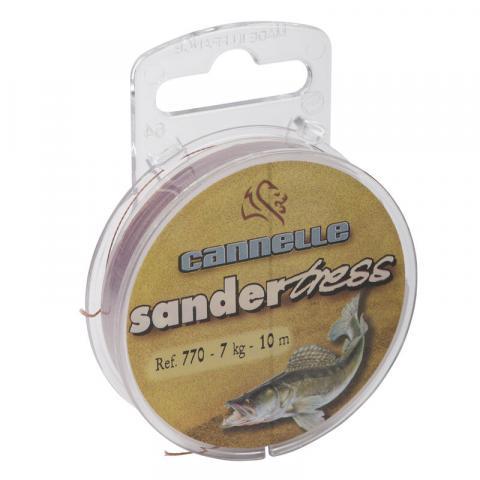 Tresse à bas de ligne carnassier cannelle sandertress c770 10m