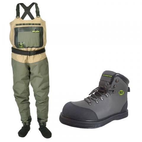 Pack wading silverstone wader hardwater pro + chaussures feutre